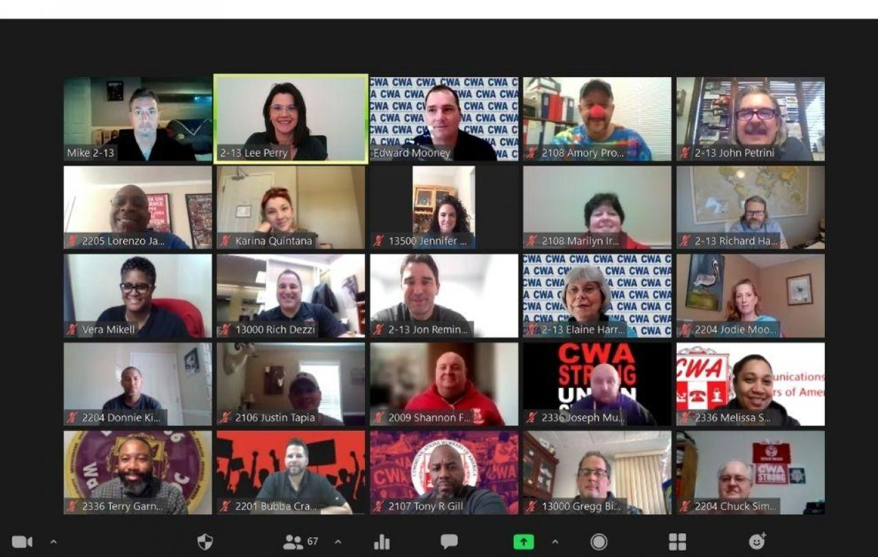 District 2-13 Staff and Officers on Zoom